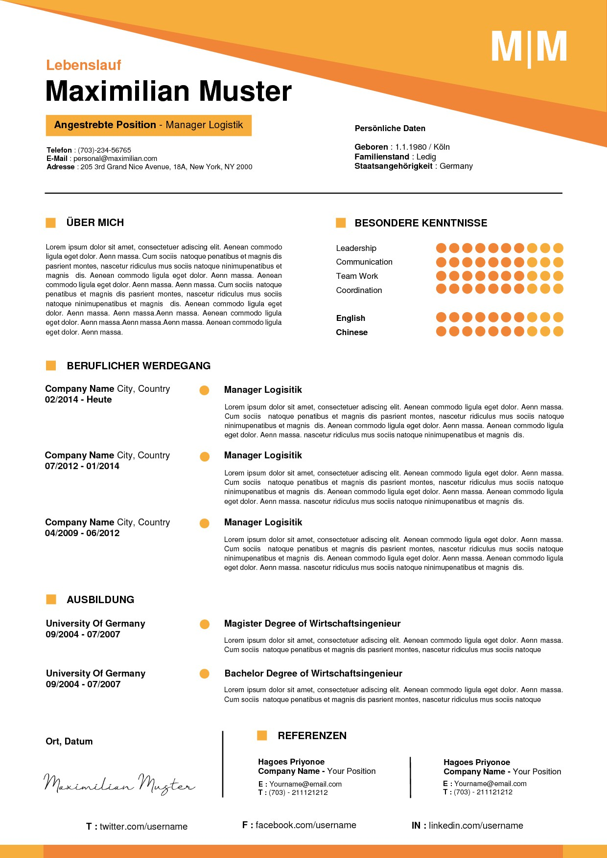 Looking for 10 different Resume Designs as WORD document (docx)