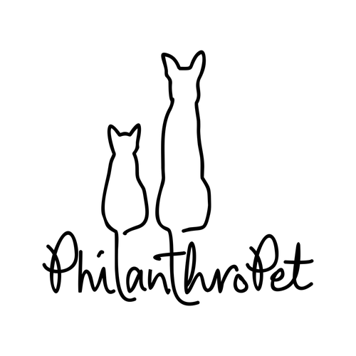 Create a sophisticated line drawing of a cat and dog for a non-profit's logo.
