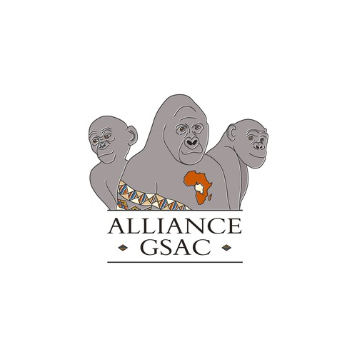 The logo to contribute to save the last Great Apes of Central Africa