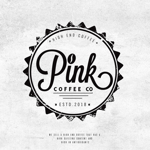 Rustic logo for coffe brand