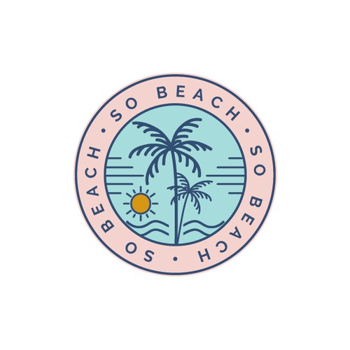 Hip logo for beach stuff store.
