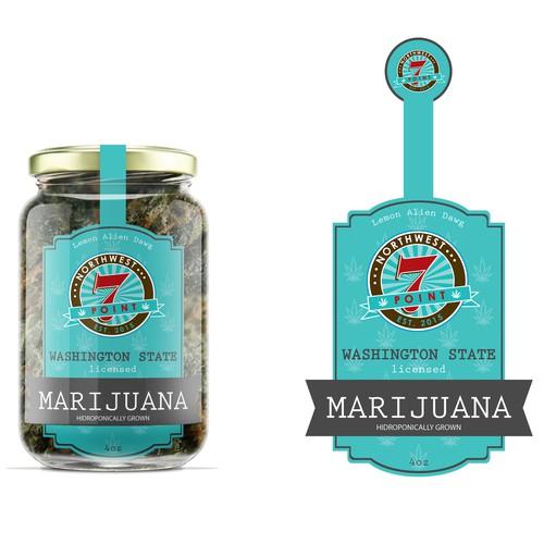 Jar label for Marijuana production company