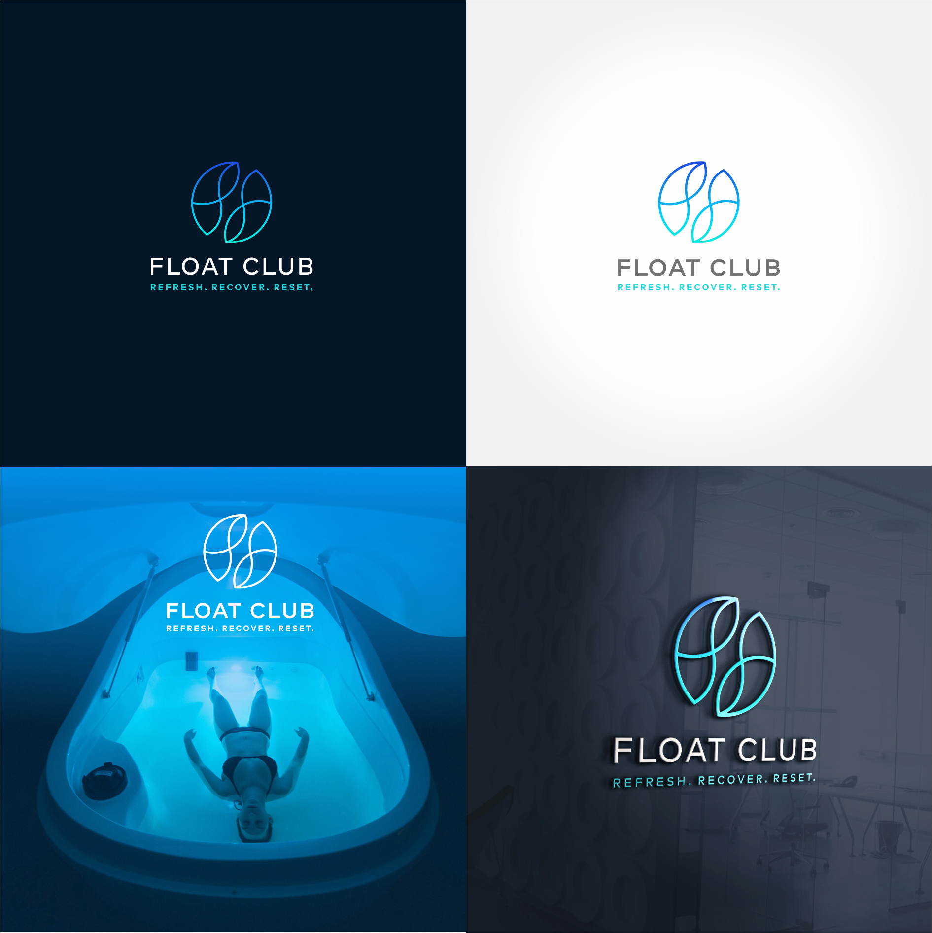 Newly launching float centre needs striking & calming logo