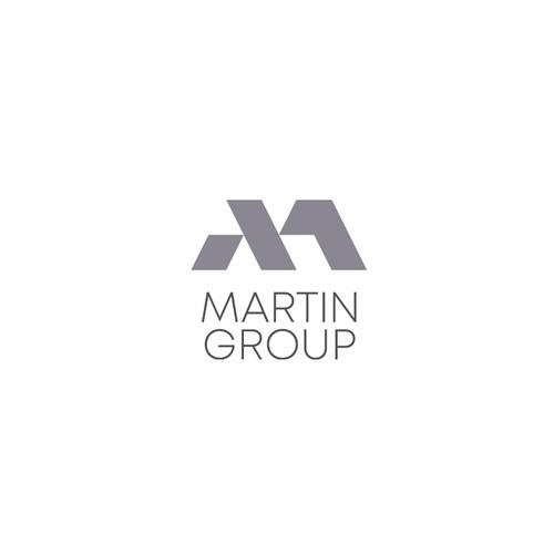 Modern corporate monogram for upscale real estate broker
