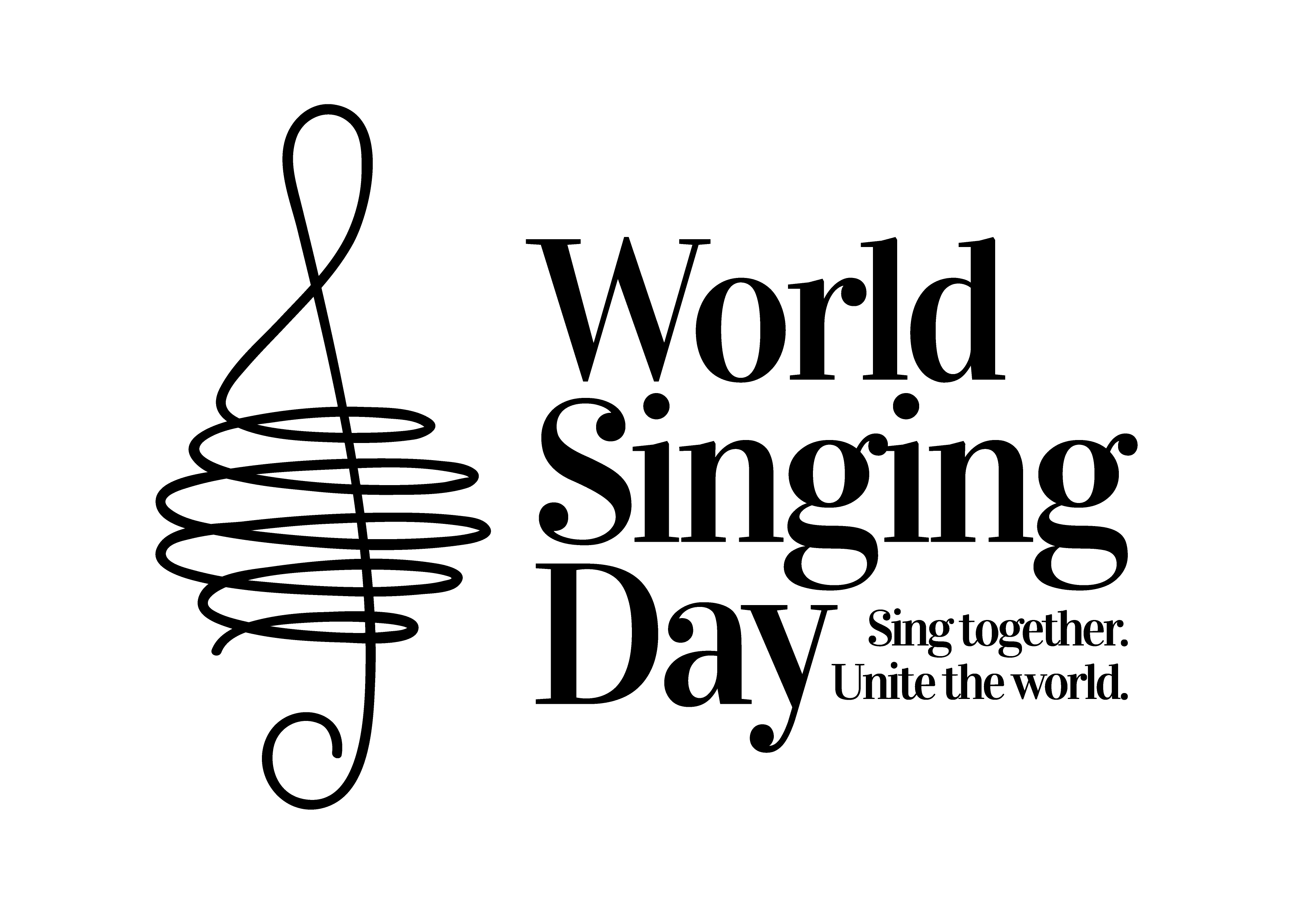 Design a global logo for World Singing Day