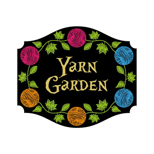 "Logo for ""Yarn Garden"""