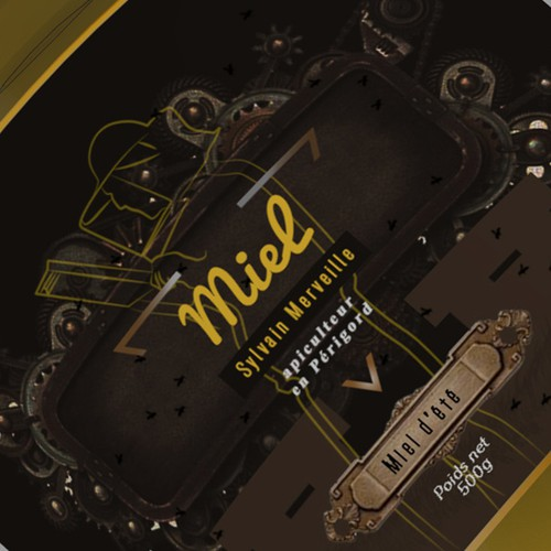 Miel Honey Label