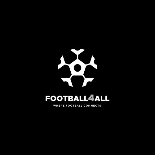 Smart shape logo for football web brand