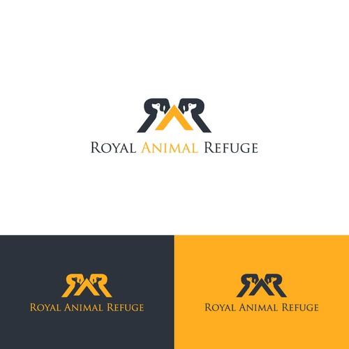 Royal Animal Refuge logo design