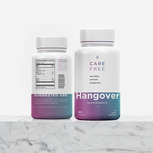 Design for a Hangover Supplement Label