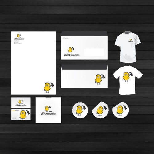 Business Cards, Email signature, Letterhead, and more for CHICKSTRUCTION...