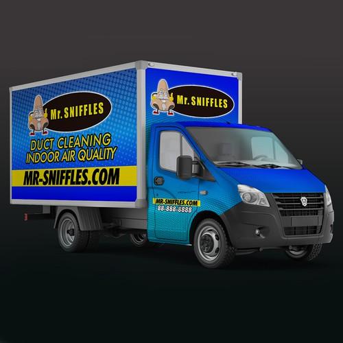 Mr. Sniffles Truck Wrap design