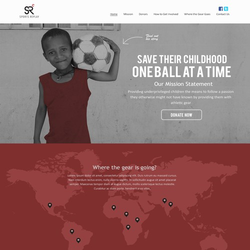 99nonprofits: Create a beautiful webpage for Sports Replay
