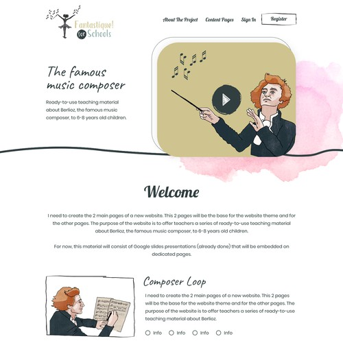 Education website about Berlioz, the music composer