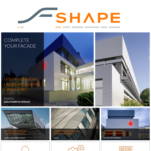 Web page design for SHAPE