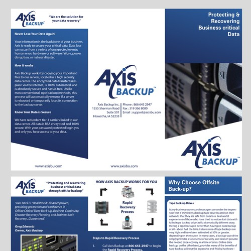 Redesign Brochure for Axis Backup