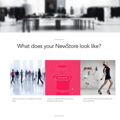 Fresh and modern website concept for software retail company
