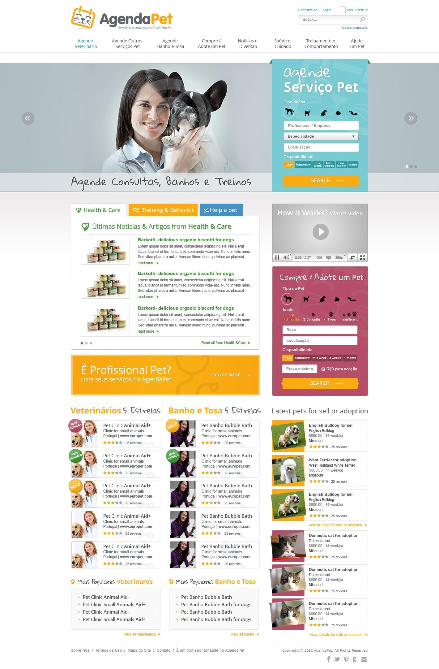 New website design wanted for AgendaPet