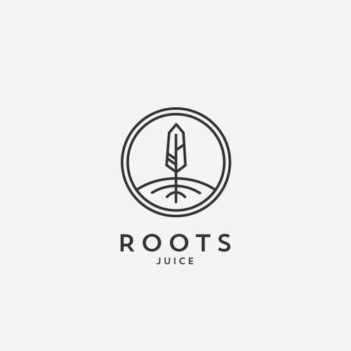 Organic design for Roots Juice bar.