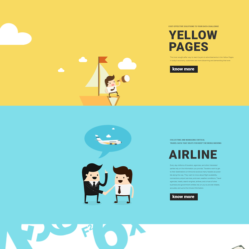 Landing Page for a Data Management Company