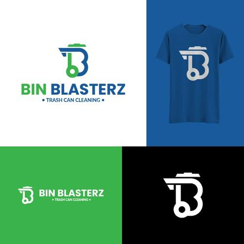Modern Logo For Bin Blasterz