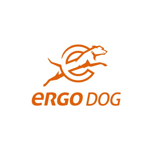 Energetic and strong logo for dog products