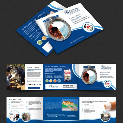 Pipe Works Home services Brochure Design