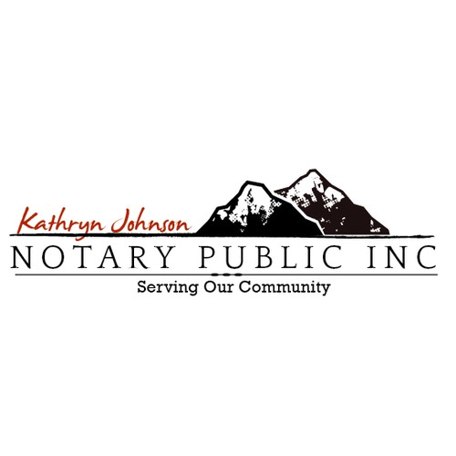 Logo for a notary public