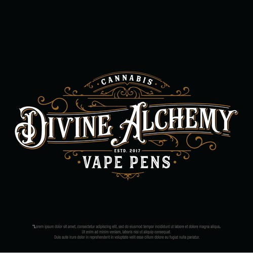 Bold logo for vape pen company