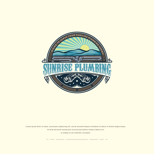 Sunrise Plumbing Vintage Logo design