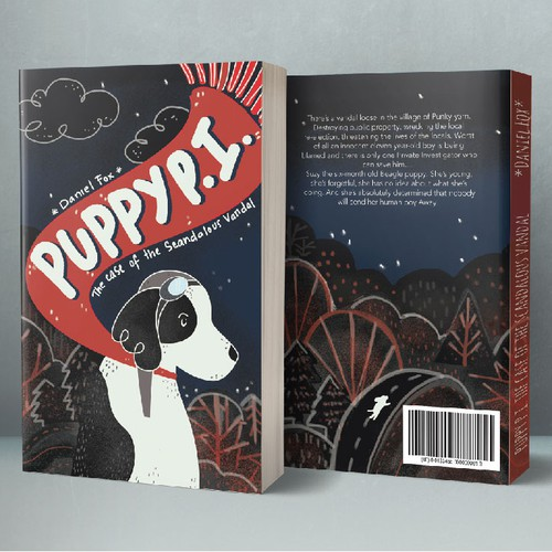 """Puppy P.I."" - Mystery Book Cover"