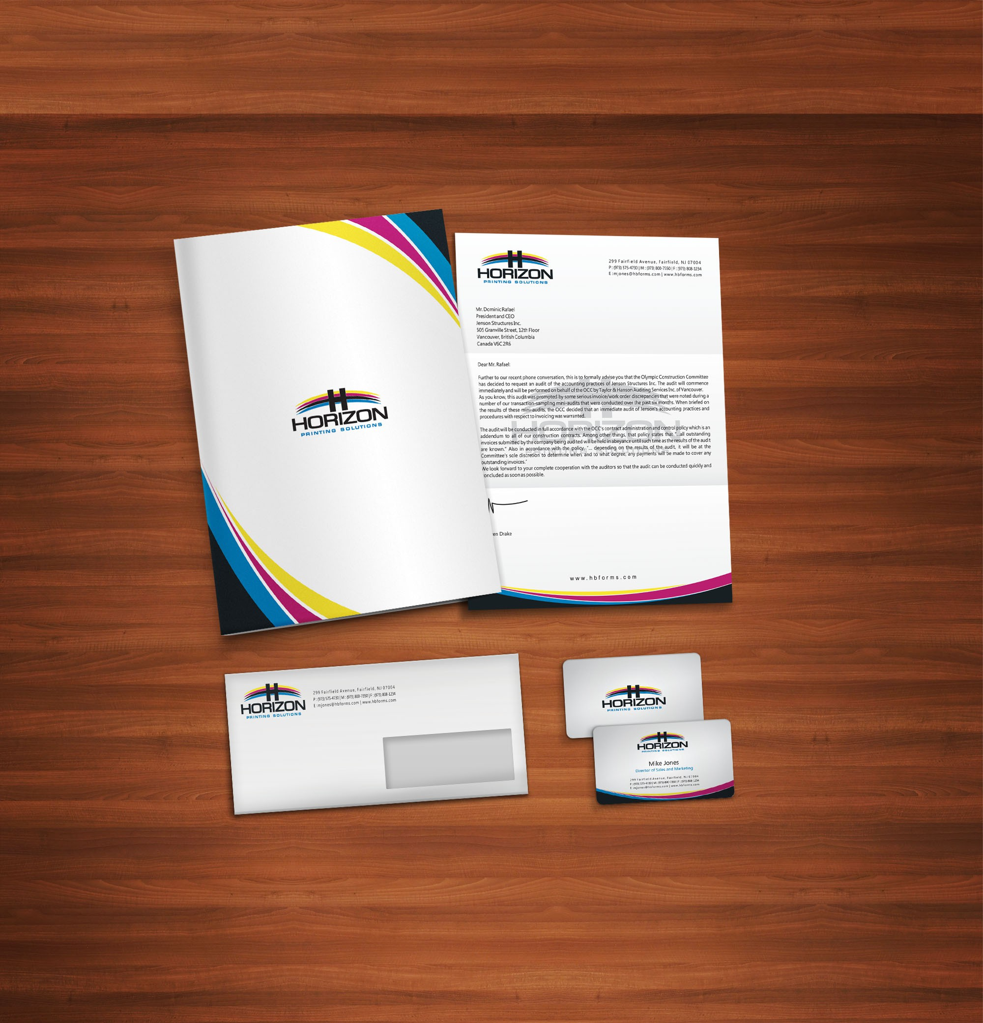 Horizon Printing Solutions needs a new stationery