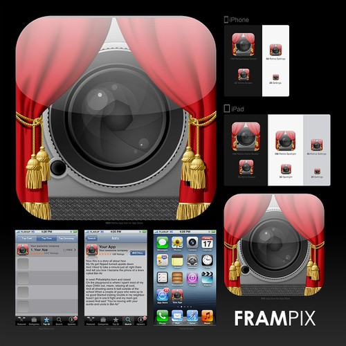 New icon or button design wanted for Frampix
