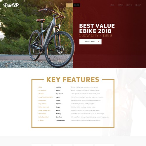 Webdesign for Ride1up