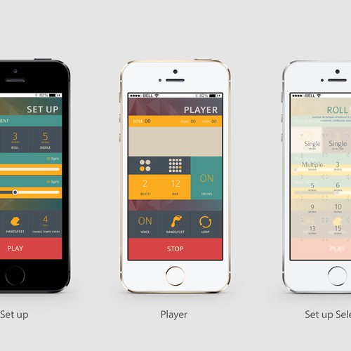 Tapadiddle - A clean, simple iOS metronome app for drummers.