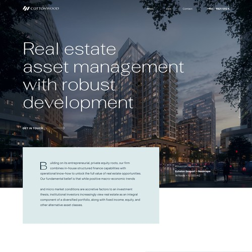 Real estate webdesign