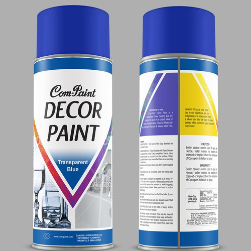 Paint label design