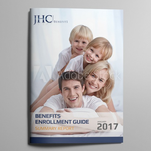 Emotional Brochure Cover for Employment Benefit Guide