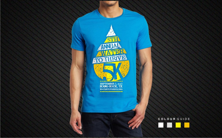 Design for water charity 5K race