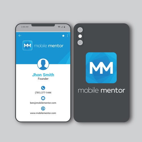 Mobile Shaped Business Card
