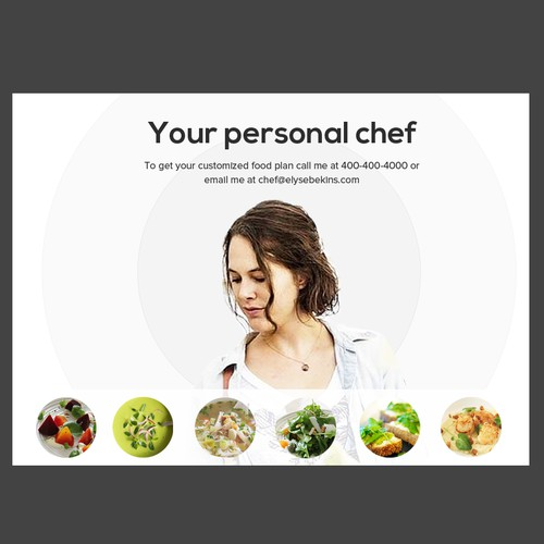 personal chef postcard design