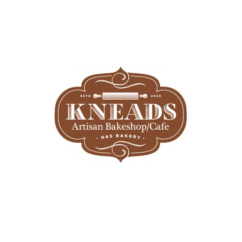 KNEADS Bakeshop and Cafe Logo