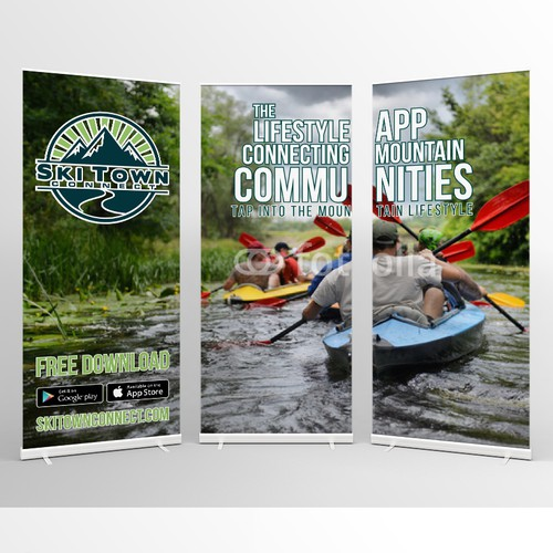 Banner combo for SkiTown app promotion
