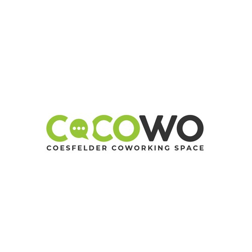 stylish logo for a modern and new coworking space