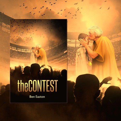 Design the cover for my novel, THE CONTEST - the next New York Times Best Seller!