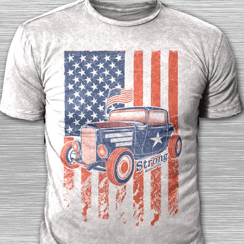 T-shirt Concept for American Street Rods show
