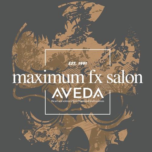 MAXIMUM FX SALON AVEDA T-SHIRT DESIGN