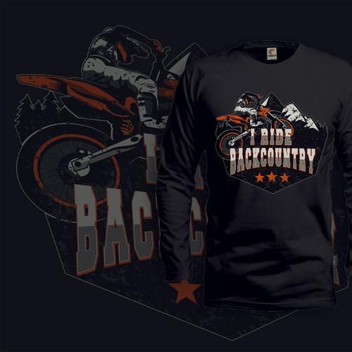 Dirt Bike Tshirt Design