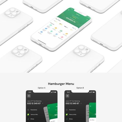 Mobile app screen redesign