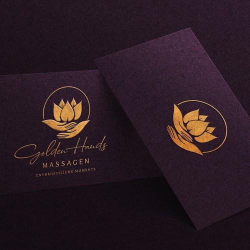 Massage studio logo brand